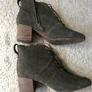 Madewell green suede boots